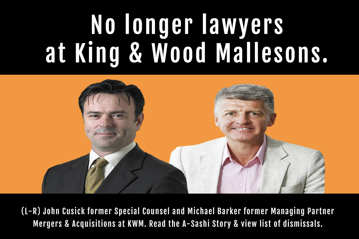 King & Wood Mallesons Sydney Special Counsel John Cusick no